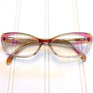 Emilio Pucci full rim multicolor Cat Eye glasses
